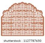 historical icon jaipur city  ... | Shutterstock .eps vector #1127787650