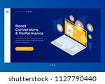 homepage. header for website.... | Shutterstock .eps vector #1127790440
