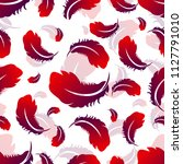 seamless pattern with feathers. ...   Shutterstock . vector #1127791010