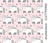 seamless pattern with cute... | Shutterstock .eps vector #1127795960