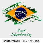 brazil independence day... | Shutterstock .eps vector #1127798156