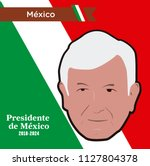 mexico elections 2018   andres...   Shutterstock .eps vector #1127804378