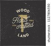 vintage hand drawn woodworks...   Shutterstock .eps vector #1127806550
