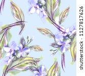 jasmine seamless pattern.... | Shutterstock . vector #1127817626