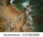 aerial view of the beach on a... | Shutterstock . vector #1127823689
