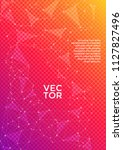 vector cover page layout.... | Shutterstock .eps vector #1127827496