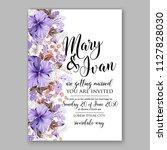 hibiscus hawaii wedding... | Shutterstock .eps vector #1127828030