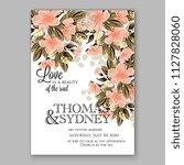hibiscus hawaii wedding... | Shutterstock .eps vector #1127828060