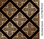 art deco pattern. seamless... | Shutterstock .eps vector #1127829410