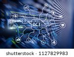 ict   information and... | Shutterstock . vector #1127829983