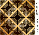 art deco pattern. seamless... | Shutterstock .eps vector #1127830013