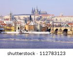 Romantic Snowy Prague Gothic...