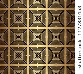 art deco pattern. seamless... | Shutterstock .eps vector #1127831453