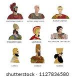 greatest generals and monarchs... | Shutterstock .eps vector #1127836580