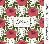 flower seamless pattern vintage ...   Shutterstock .eps vector #1127837504