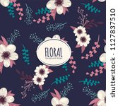 flower seamless pattern vintage ...   Shutterstock .eps vector #1127837510