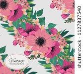 flower seamless pattern vintage ...   Shutterstock .eps vector #1127837540