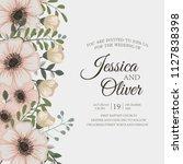 floral wedding invitation design   Shutterstock .eps vector #1127838398