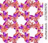 watercolor vegan pattern.... | Shutterstock . vector #1127839070
