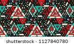 geometric folklore hipster... | Shutterstock .eps vector #1127840780