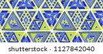 indian geometric folklore... | Shutterstock .eps vector #1127842040