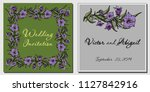 vector card with flowers... | Shutterstock .eps vector #1127842916