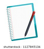 notebook school with pencil | Shutterstock .eps vector #1127845136