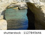 rock formation near otranto in... | Shutterstock . vector #1127845646