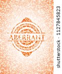 aberrant abstract orange mosaic ...   Shutterstock .eps vector #1127845823