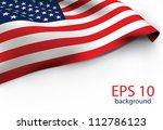 usa flag   old glory flag vector | Shutterstock .eps vector #112786123