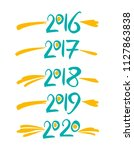 years number handwriting.... | Shutterstock .eps vector #1127863838
