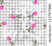 rose pattern.for textile ... | Shutterstock . vector #1127875886