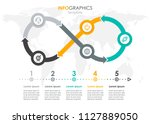 vector infographic label design ... | Shutterstock .eps vector #1127889050