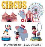 a set of circus element... | Shutterstock .eps vector #1127891363