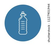 plastic water bottle icon....