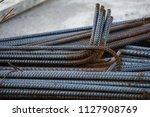 steel rebar for concrete... | Shutterstock . vector #1127908769