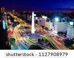 colorful aerial view of buenos... | Shutterstock . vector #1127908979
