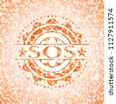 sos abstract emblem  orange... | Shutterstock .eps vector #1127911574