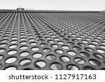 metal perforated sheet on house ... | Shutterstock . vector #1127917163