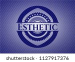 esthetic emblem with jean... | Shutterstock .eps vector #1127917376
