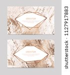 marble business cards with... | Shutterstock .eps vector #1127917883