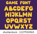 friendly cartoon font with 3d... | Shutterstock .eps vector #1127924963