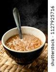 caramelized onion soup. rustic