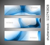 abstract header blue wave whit... | Shutterstock .eps vector #112792828