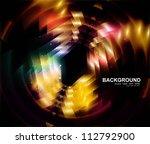 abstract black bright swirl...   Shutterstock .eps vector #112792900