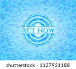 act now realistic sky blue... | Shutterstock .eps vector #1127931188