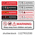 warning keep away from children ... | Shutterstock .eps vector #1127931530