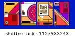 summer colorful poster design... | Shutterstock .eps vector #1127933243