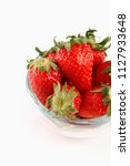 strawberries in a bowl  | Shutterstock . vector #1127933648