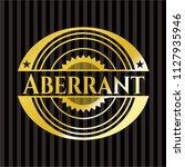 aberrant gold shiny emblem   Shutterstock .eps vector #1127935946